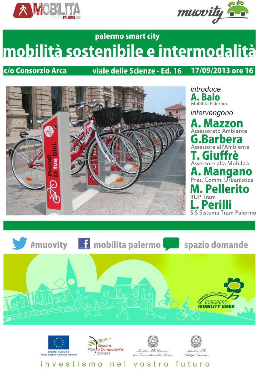 Seminario mobilit sostenibile e intermodalit il 17 for Mobilita palermo