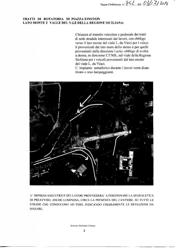842 SISTEMA TRAM PALERMO RACCORDI TRA LE LINEE 2 E 3 SULLA ROTATORIA EINSTEIN