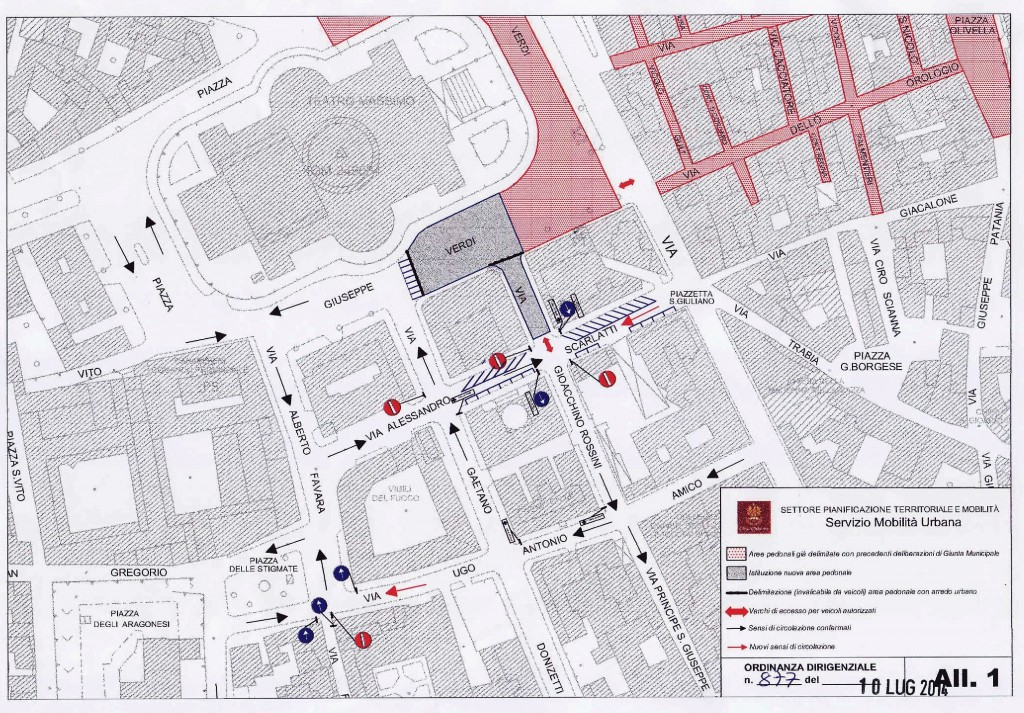 OD n  877 del 10 07 14 - regolamentazione esterna area pedonale piazza verdi-1