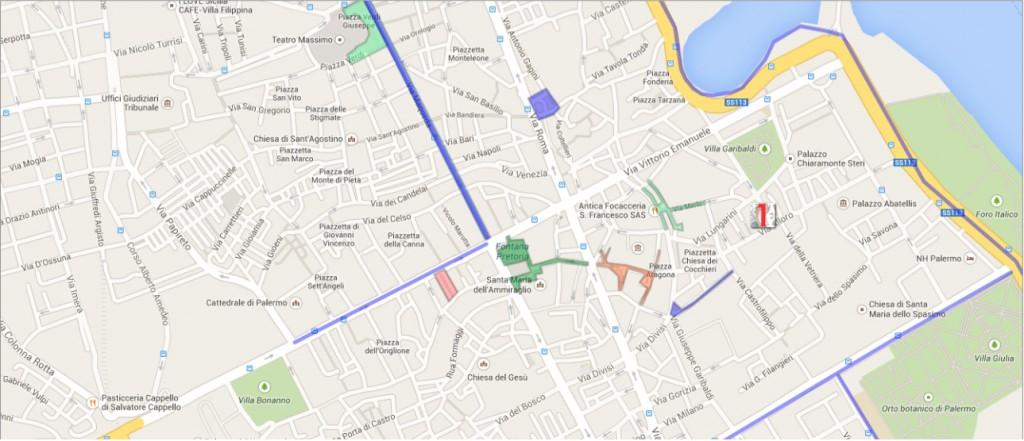 Palermo pedonale e ciclabile - Google Maps