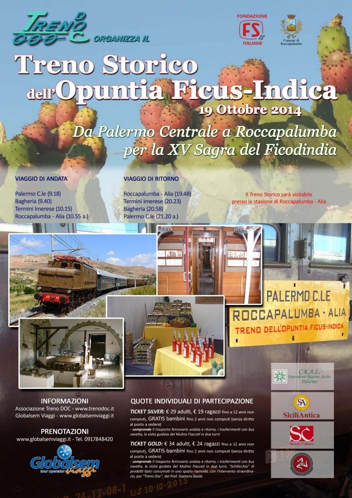 Treno Storico Opuntia Ficus-Indica 19-10-14 Locandina