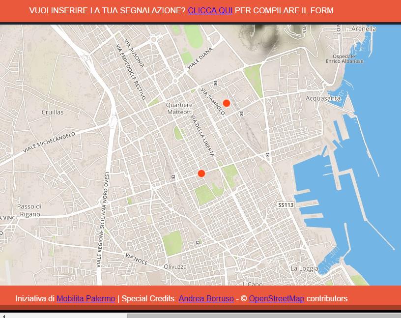 I furti di bici a Palermo in una mappa   Mobilita Palermo