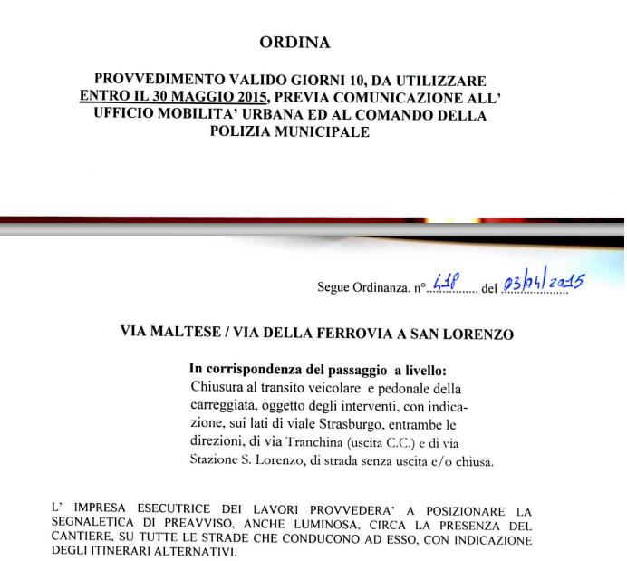 ordinanza via maltese