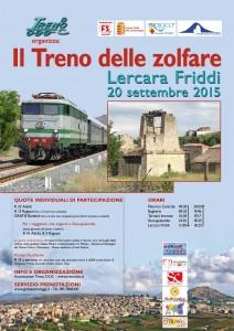 Locandina Treno delle Zolfare 29-08-15