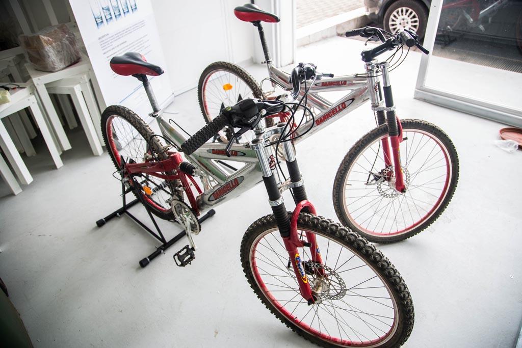 Le bici sono connesse a dei sensori per il rilevamento della velocità