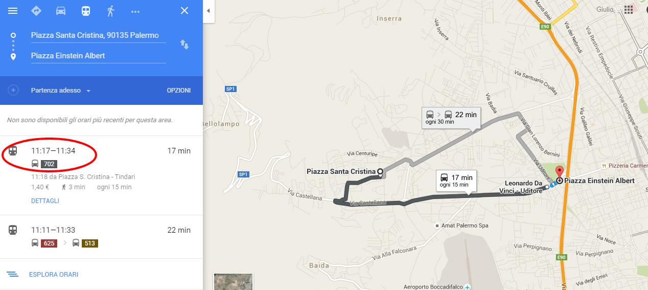 da Piazza Santa Cristina  90135 Palermo a Piazza Einstein Albert   Google Maps