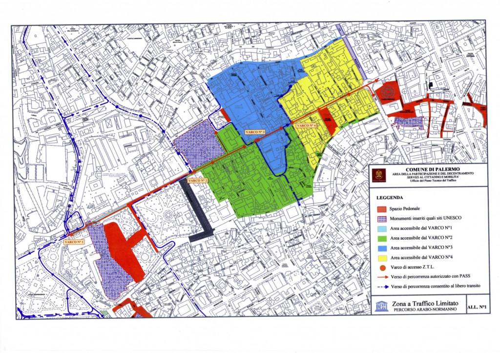 Mappa Pedonalizzazione Via Vittorio Emanuele