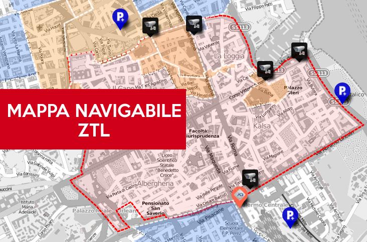 Cartina Ztl Napoli.Telecamere Ztl Palermo Mappa