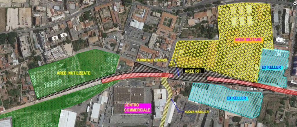 Fermata S. Lorenzo del Passante ferroviario ed aree adiacenti
