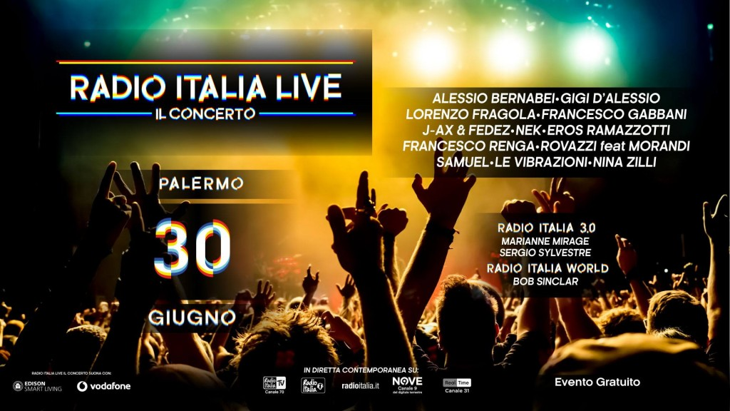 Radio Italia Live 2017, Il Concerto di Palermo