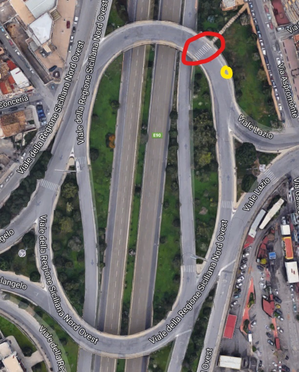 Attraversamento pedonale rotonda viale lazio mobilita for Mobilita palermo