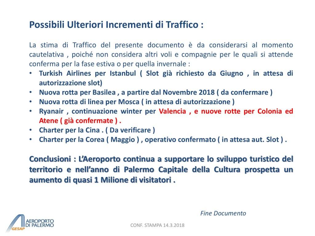 Presentazione Previsione TRAFFICO 2018 - short vers. per CONF STAMPA 14.3 15